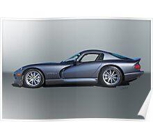 2000 Dodge Viper GTS VS3 'Profile' Poster