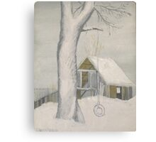 Tire Swing in Winter - Maine Canvas Print