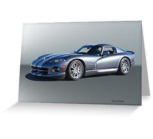 2000 Dodge Viper GTS VS2 Greeting Card