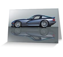 2000 Dodge Viper GTS VS0 'Reflections' Greeting Card