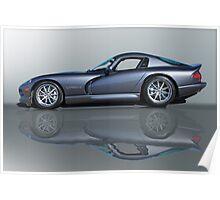 2000 Dodge Viper GTS VS0 'Reflections' Poster