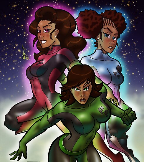 African American PowerPuff Girls by illumistrations