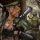 African American Female Naked Snake of MGS by illumistrations