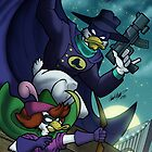 Darkwing Duck and Quiverwing Quack by illumistrations