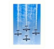 "Flying precise - ""Blue Arrows"" Art Print"