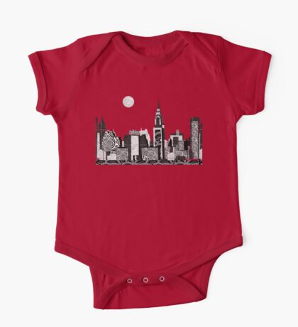 Manhattan Night New York Skyline Swings One Piece - Short Sleeve