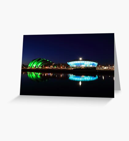 River Clyde at Night Greeting Card