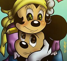 Mickey and Minnie Mouse by illumistrations