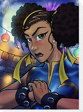 African American Chun-Li by illumistrations