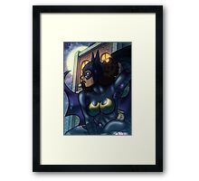 African American Batgirl Framed Print
