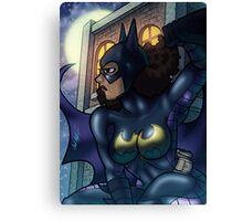 African American Batgirl Canvas Print