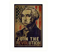 Washington Revolution Propaganda Art Print