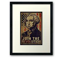 Washington Revolution Propaganda Framed Print
