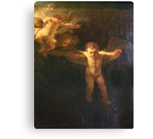 Angel, Naked, Angelic, Cherub, with wings, Church, St Petersburg Russia.  Canvas Print