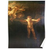 Angel, Naked, Angelic, Cherub, with wings, Church, St Petersburg Russia.  Poster