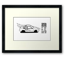 Toyota AW11 MR2 - AERO Graphic - PRINT Framed Print