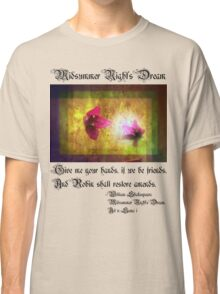 marriage of Titania; Salmon berry floral duet Classic T-Shirt