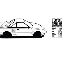 Toyota AW11 MR2 - DATA Graphic - PRINT by Lindsay Thebus