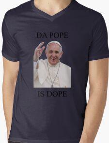 DA POPE IS DOPE Mens V-Neck T-Shirt