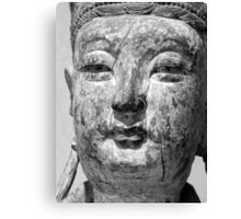 Black and white Buddha Canvas Print