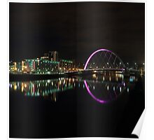 River Clyde at Night Poster