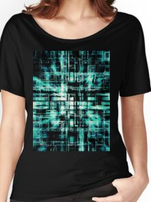 Green Geometric Cubes In Motion Women's Relaxed Fit T-Shirt