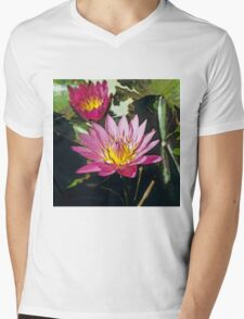 Lotus II Mens V-Neck T-Shirt