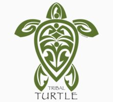 Green Tribal Turtle by Susan R. Wacker