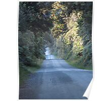 Open Road, Gunns Campsite, South Island, New Zealand Poster