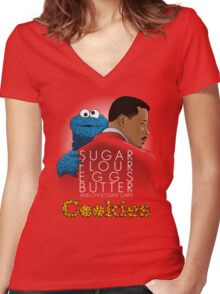Cookies' Empire Women's Fitted V-Neck T-Shirt