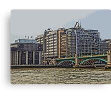 Bankside Skyline, London Canvas Print