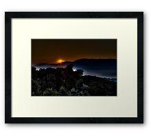 Valley Sunrise Framed Print