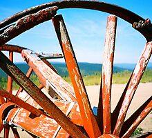 Hilltop Wagon Wheel (Alaskan Tundra) by suebee