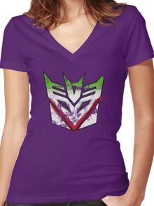 Jokercons: Wire So Serious?* Women's Fitted V-Neck T-Shirt