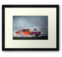 FRYZEM Tread Cemetery Burnout Framed Print