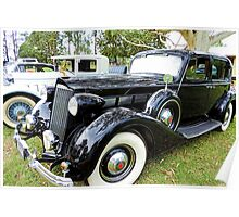 1930's Black Packard with Gold Cormorant Poster