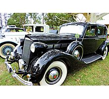 1930's Black Packard with Gold Cormorant Photographic Print