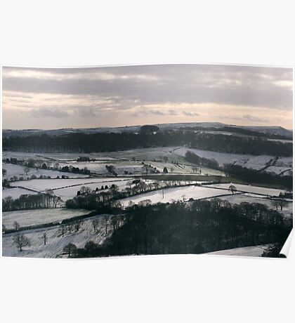 A Yorkshire Landscape in Winter Poster