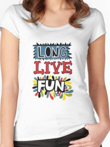 Long Live Fun Women's Fitted Scoop T-Shirt