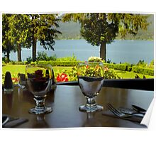 Table For Two at Lake Quinault Lodge Poster