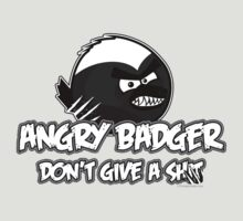 Angry Badger B/W by LTDesignStudio