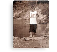 zack fishing Metal Print