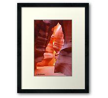 Upper Antelope Slot Canyon Entrance Glow Framed Print