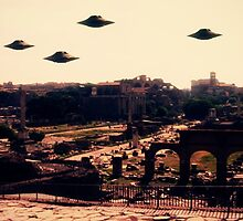 UFO Rome by Raphael Terra by esotericaart