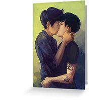 Male Kiss Greeting Card