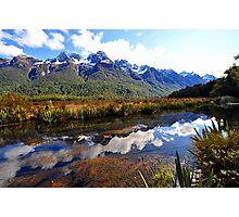 Mirror Lakes. South Island, New Zealand. (5) Photographic Print