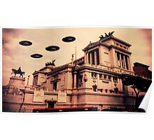 UFO Rome by Raphael Terra Poster