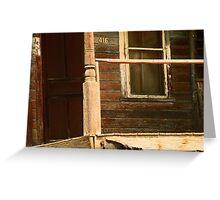 Abandoned House, Abandoned Porch Greeting Card