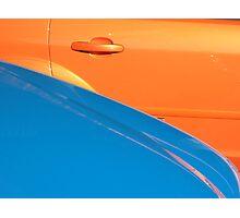 Orange and Blue Metal Photographic Print