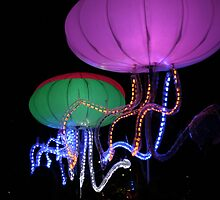 Giant sea creatures- Vivid light show Sydney, NSW by BecQuist
